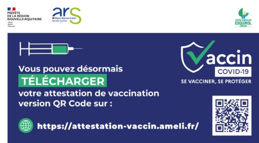 Attestation de vaccination